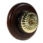 Polished Brass Flutted Dome