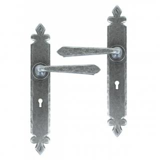 Cromwell Lever Lock Set - Pewter