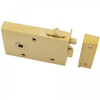 Left Hand Bathroom Latch - Brass or Iron