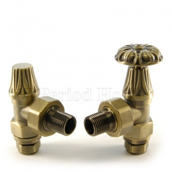 Abbey Manual Radiator Valve 22mm x 3/4 inch in Brass
