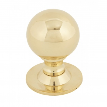 POLISHED BRASS BALL CABINET KNOB - LARGE