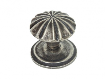 Finesse Abbey - Pewter Cabinet Knob (Includes Backplate)