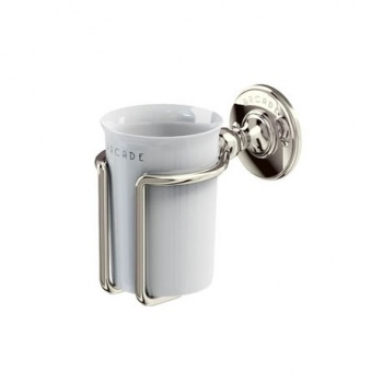 Arcade Bathrooms - Wall-Mounted China Mug & Holder