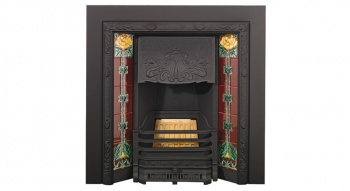 Stovax Art Nouveau Tiled Insert Fireplaces