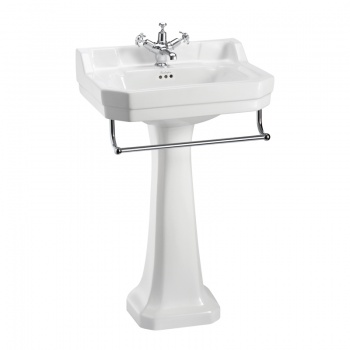 Edwardian Basin, Towel Rail and Regal Pedestal