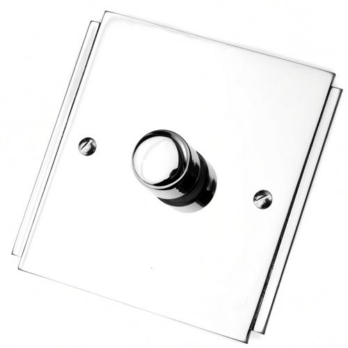 Art Deco Polish Chrome Dimmer Switch