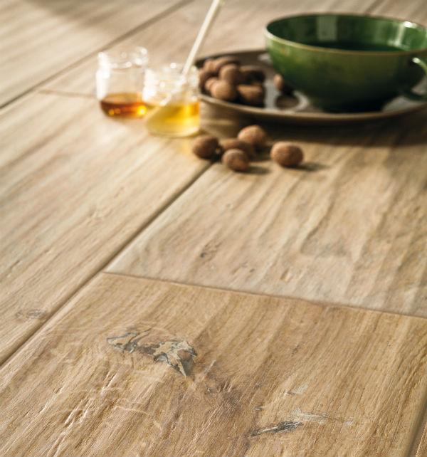 Chateau wood effect chalet porcelain floor tiles for Chalet flooring