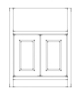 Fitted kitchen belfast sink unit 600 for Fitted kitchen drawer unit