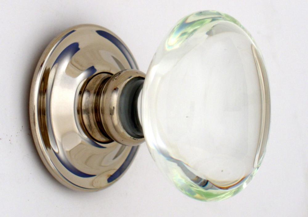oval glass door knobs
