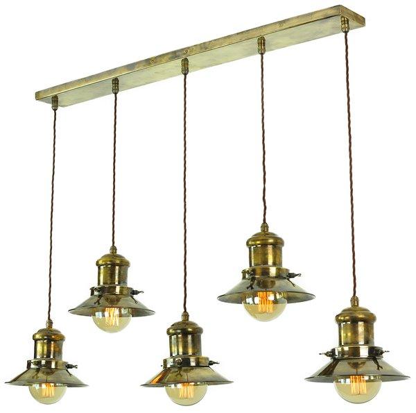 Smartwares Industrial Es Pendant Light Black Bronze: Edison Small 5 Light Pendant