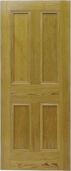 Pitch pine doors victorian 4 panel for Yellow pine wood doors