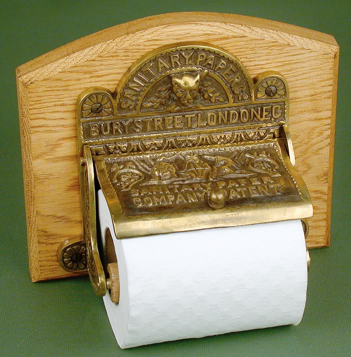 Toilet Roll Holder Antique Brass