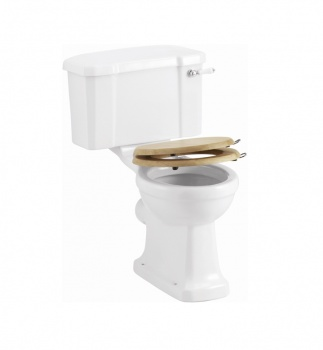 Wooden Oak Soft Close Toilet Seat