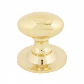 POLISHED BRASS OVAL CABINET KNOB - SMALL