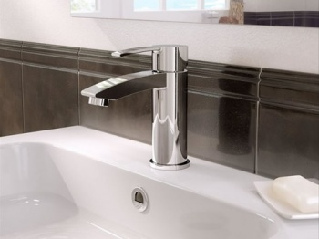 Sapphire Clearwater Basin Mixer With Pop-Up Waste