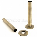 Cast Iron Radiator Pipe Shrouds - Antique Brass