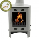 Carron Ash Grey Enamel Dante 5kW Smoke Exempt Multifuel Stove
