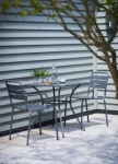 Dean Street Square Table & 2 Chair Bistro Set - Charcoal