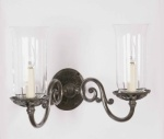 Empire Solid Brass Twin Wall Light
