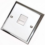 Single Step Polished Chrome Telephone Sockets