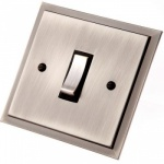 Single Step Pewter Rocker Switches
