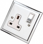 Single Step Polished Chrome Plug Sockets