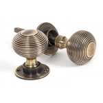 Beehive Door Knobs - Brass