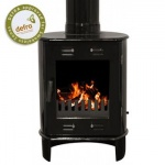 Carron Black Enamel Dante 5kW Smoke Exempt Multifuel Stove