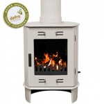 Carron Cream Enamel Dante 5kW Smoke Exempt Multifuel Stove