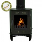 Carron Green Enamel Dante 5kW Smoke Exempt Multifuel Stove