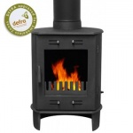 Carron Matt Black Dante 5kW Smoke Exempt Multifuel Stove