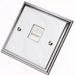 Edwardian Polished Chrome Telephone Sockets