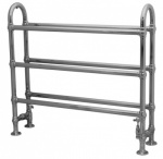 Large Ermine Towel Warmer Chrome