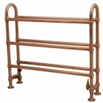 Large Ermine Towel Warmer Copper