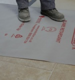 Temporary Floor Protection – Fire Retardant Membrane