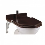 Wooden Mahogany Throne Toilet Seat - High level