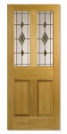 Traditional Oak Internal Doors Parlour Glazed Smoked