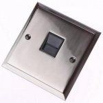 Pewter Single Step Telephone Sockets