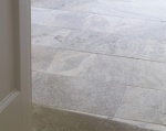 Silver Travertine Tumbled Flooring