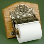 Antique Nickel Toilet Roll Holder