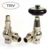 Amberley TRV Cast Iron Radiator Valve - Polished Nickel