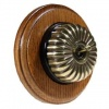 1 Gang 2 Way Asbury Medium Oak Wood, Fluted Dome Period Switch