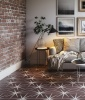 Lily Pad Plum Pattern Tile