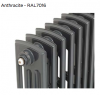 Edwardian Radiator 650mm - 12 Sections - Anthracite