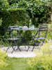 Round Rive Droite Bistro Set Table and 4 Chairs - Carbon