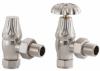 UK-10 Manual Cast Iron Radiator Valve - Brushed Nickel