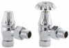 UK-10 Manual Cast Iron Radiator Valve - Polished Chrome