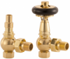 UK-28 Thermostatic Cast Iron Radiator Valve - Antique Brass