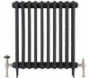 UK-28 Thermostatic Cast Iron Radiator Valve - Brushed Nickel