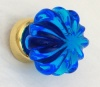 Flower Glass Cupboard Knobs